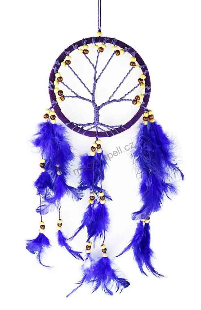 68777668584 Lapač snů Strom života fialový 12 cm